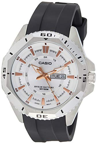 Casio Men's Quartz Watch, Analog Display and Rubber Strap