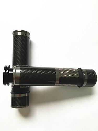 Fiber Carbon Cbr - Decal Story Titanium 7/8'' 22MM CNC Carbon fiber Motorcycle handlebar grip Aluminium alloy Universal For CBR GSXR ZX6R 9R 14R YZFR1 R6 ALL