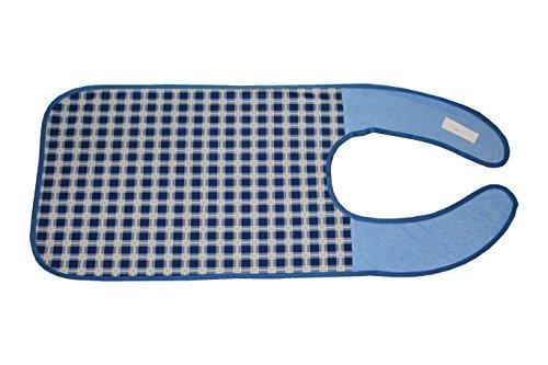 ZOLLNER® Erwachsenenlätzchen/Kleiderschutz wasserdicht dunkelblau-kariert, direkt vom Hotelwäschehersteller, Serie