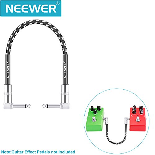 Neewer 3 Pack 1 Feet Guitar Patch Cable with 1/4