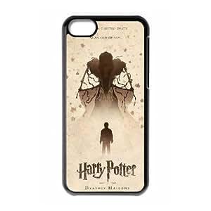 Reliquias de la Muerte 013 Funda iPhone 5C teléfono celular Caso Negro K9V2HYTI Cellular Phone Cases