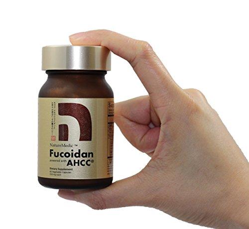 NatureMedic Fucoidan AHCC Brown Seaweed Immunity Supplement with Organic Mekabu Mozuku Agaricus 60 Vegetable Capsules Made in Japan Review