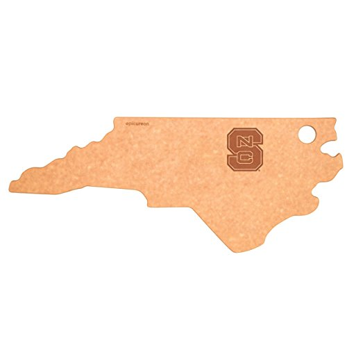(Epicurean C032-NC0102-NCSU North Carolina State Wolfpack Cheese Board, Natural/Slate)