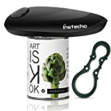 Instecho One Touch Automatic Smooth Edge Electric Can Opener, Black