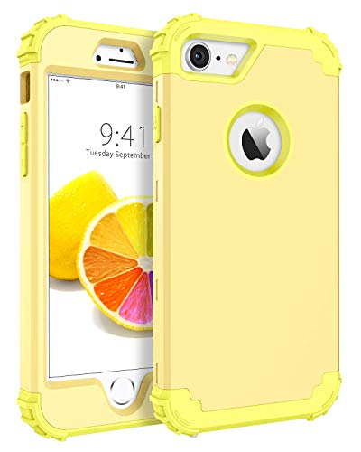 (iPhone 8 Case, iPhone 7 Case, BENTOBEN Heavy Duty Shockproof 3 in 1 Slim Hybrid Hard PC Soft Silicone Rubber Bumper Rugged Protective Phone Case Cover for iPhone 8 /iPhone 7 (4.7