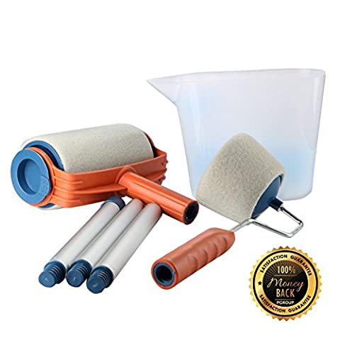 Multifunction Paint Roller Set Kit Decorating Painting Brush Tackle Decorative Roller Paint Household Painting - Quality Interior Latex Paint Semi