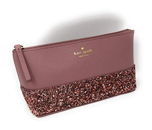 Kate Spade Greta Court Shiloh Makeup Cosmetic Travel Case Dusty Peony (Pink) from Kate Spade New York