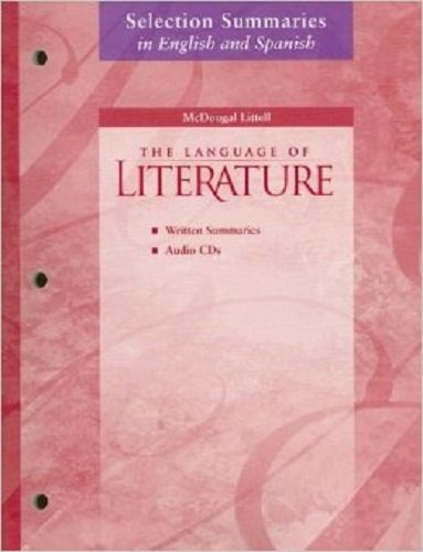 Download McDougal Littell Language of Literature: Selection Summaries in Spanish Audio CD Package Grade 11 (Spanish Edition) ebook