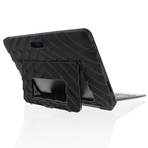 Gumdrop Cases Hideaway Stand for Dell Venue 10 Pro 5055 Rugged Tablet Case Shock Absorbing Cover, Black / Black by Gumdrop Cases