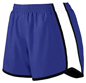 Augusta Sportswear Women's Moisture Elastic Short, Purple/White/Black, Small