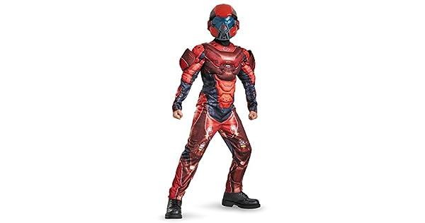 Amazon.com: Disfraz de Spartan rojo de Halo, con mú ...