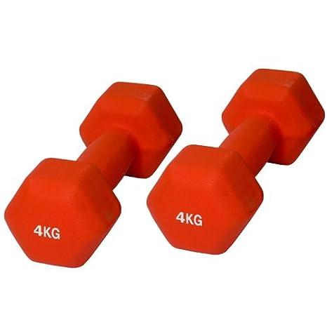 cardiofi tness mancuernas 4 kg, Naranja, mancuernas de juego: Amazon.es: Deportes y aire libre