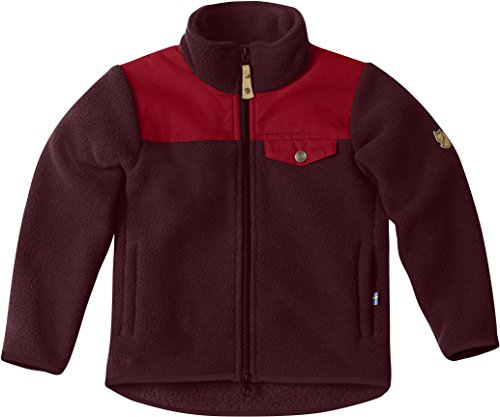 Fjallraven Kids Singi Fleece Jacket, Dark Garnet, 122 by Fjallraven