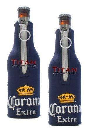 Corona Extra Bottle Suits | Neoprene Beer Koozies - Set of 2