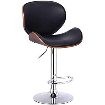 Costway 1 PCS Bar stool Adjustable Height Swivel Bentwood PU Leather Home Bar Stool with Curved  sc 1 st  Amazon.com & Amazon.com: Flash Furniture Walnut Bentwood Adjustable Height ... islam-shia.org