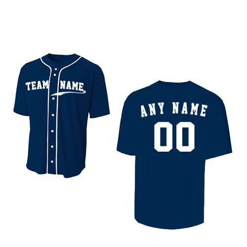 Navy Blue Adult Adult 2XL (CUSTOM Front and/or Back) Sports Uniform Jersey Shirt by A4 Sportswear