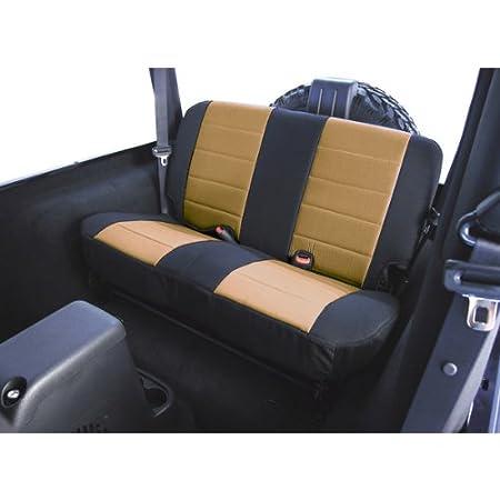 Rugged Ridge 13282.09 Black /& Grey Custom Fit Poly Cotton Rear Seat Cover