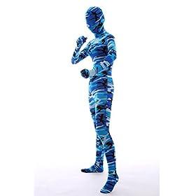 - 411qrXGzlDL - Halloween Cosplay Costume Full Printed Navy Camouflage Bodysuit Lycra Spandex Zentai