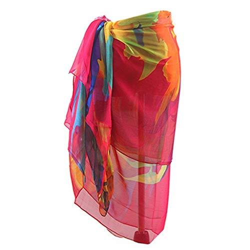 - Zlolia Women's Color Bohemian Beach Swimsuit Dresses Pareo Scarf Beach Cover Up Wrap Kaftan Sarong