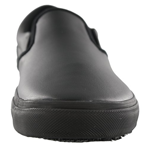 Laforst Mens Klei Antislip Slip Op Werk Sneaker Zwart