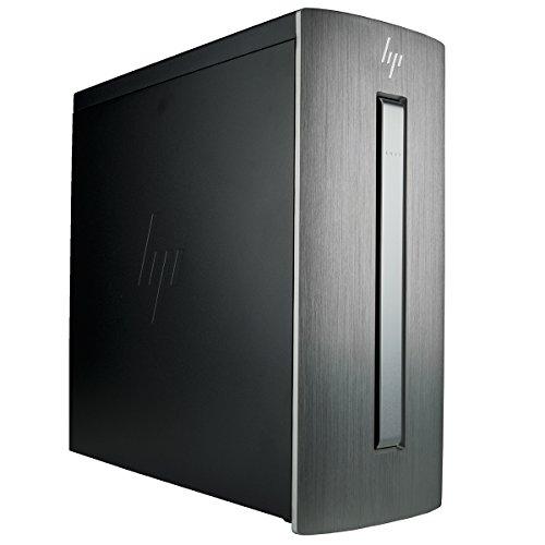 HP Envy 750-610 Gaming Desktop (AMD Ryzen 5 1400 + RX 580 4GB, 16GB RAM, 250GB SSD + 1TB HDD, DVDRW, Bluetooth 4.1) Gamers Tower PC 250 Gb Bluetooth