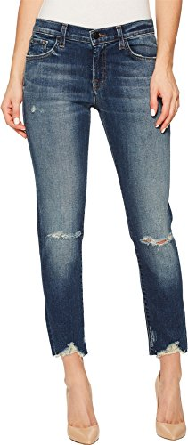 J Brand Jeans Women's Sadey Slim Straight in Revoke Destruct, 29 from J Brand Jeans