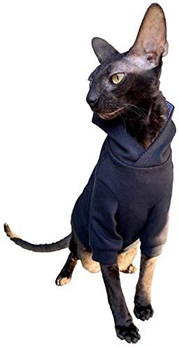 Kotomoda Sphynx Cat's Hoodie InBlack Naked Cat Hairless Cat Clothes 22