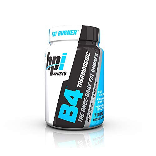 BPI Sports B4 - Extra-Strength Fat Burner - Keto-Friendly - Appetite Suppressant - Caffeine, Niacin, Quercetin, Yohimbine - 30 Servings - 710mg