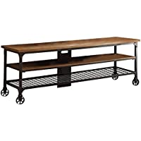 Homelegance 50990-T Two Shelves Cottage Style TV Stand with Black Metal Frame