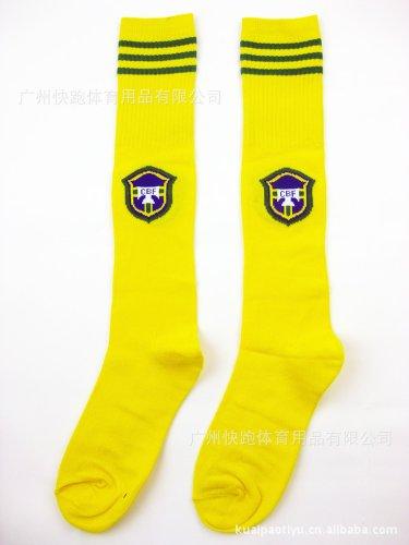 Brazil Brasil National soccer football socks for kids CS Sports