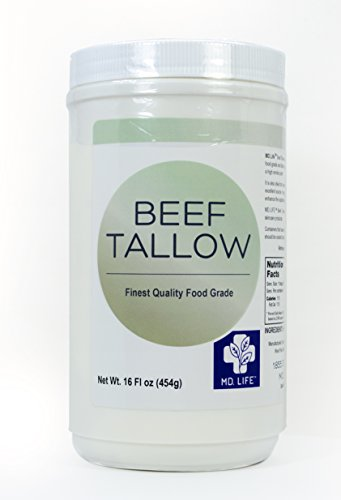 MD. Life Beef Tallow Food Grade Soap Candle Making Cooking Skincare Oil 16 oz