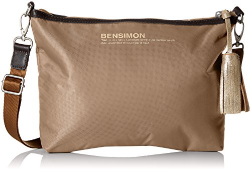 Bensimon Damen Mini Bag Umhängetasche, 13x21x27 centimeters Beige