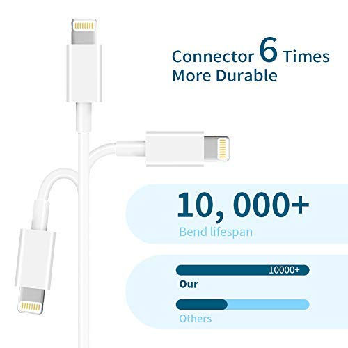 MFi Certified iPhone Charger MBYY, 5pack [6/6/6/10/10FT] Lightning Cable iPhone Cable USB Sync Cord Fast iPhone Charger Cable Compatible iPhone 11 Pro Max Xs X XR 8 7 6s 6 SE iPad iPod More
