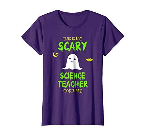 Womens Scary Science Teacher Costume Halloween T-Shirt Medium Purple -