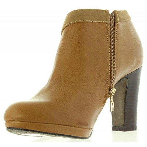 Maria 61197 für Schuhe NAPAL Mare Ferse C21767 Taupe Damen rF64rqz
