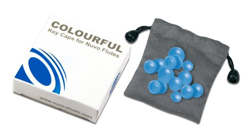 Nuvo N220KCBL Colored Key Caps Set for Flutes-Blue