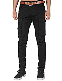 ITALY MORN Men's Cargo Pants Athletic Fit Big Bellows Pockets