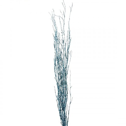Bamboo Blue Tree (Shinoda Design Center 5 Piece/2 Piece Glitter Natural Bamboo Stem Set, 18-24