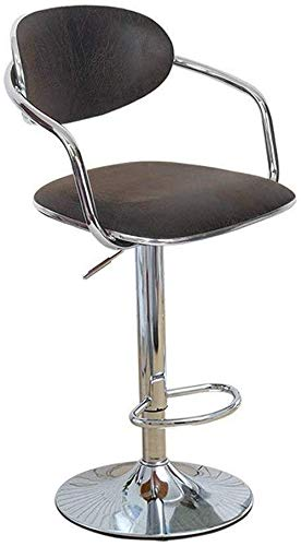 CHU N Chair Faux LeatherStool, Adjustable Gas Lift 360 Deg Swivel with Arms and Backs (Size : 38.5cm) 929 by CHU N