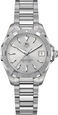 TAG Heuer Women's WAY1311.BA0915 300 Aquaracer Analog Display Swiss Quartz Silver Watch