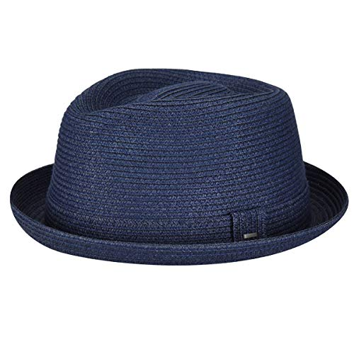 Bailey Men's Billy Trilby Hat, Blue (Navy), Large