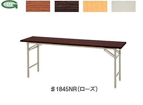 折りたたみテーブル 棚なし (W1800×D600×H700mm)  #1860N□ B00MFV9F9OR(ローズ)