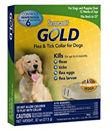 Sergeant\'s Gold Flea & Tick Collar for Dogs Fits upto 26-Inch