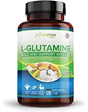 L-GLUTAMINE voor spierregeneratie - 3400 mg per portie - Herstelt de gezondheid van het darmweefsel - Verhoogt de energie- en hormoonproductie - 120 allergeenvrije veganistische capsules…