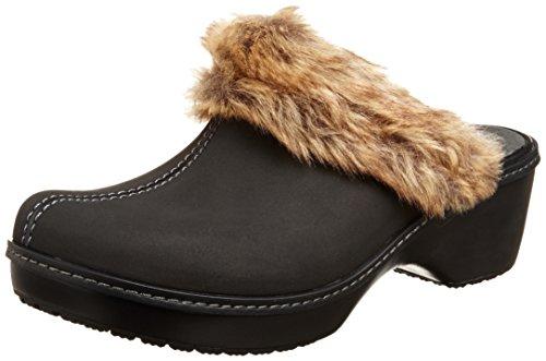 Crocs - - Damen Kasack Fuzz Clog Black/Black