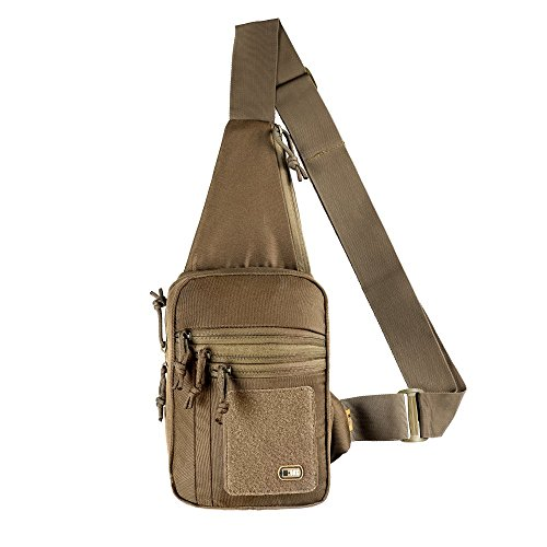 М-Tac Tactical Bag Shoulder Chest Pack with Sling for Concealed Carry of Handgun (Coyote)