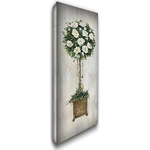 Woodgrain Topiary 18x40 Gallery Wrapped Stretched Canvas Art by Swatland, ()
