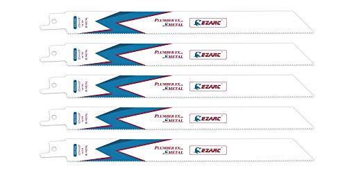 (EZARC Reciprocating Saw Blade Metal Cutting 9-Inch 14TPI R922PM (5-Pack) )