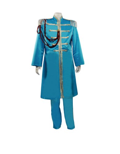 [Men's Beatles Sgt. Pepper's Blue (Paul) Costume, XXLarge] (Sgt Pepper Paul Costume)