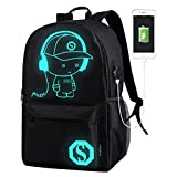 DOLIROX Cool Boys Girls Outdoor Backpack Anime Luminous Backpack Daypack Shoulder School Bag Laptop Bag (Large)